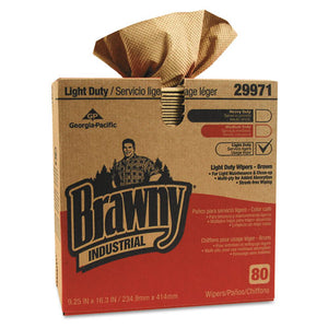 ESGPC29971 - Brawny Industrial Light Duty Three-Ply Paper Wipers, 9-1-4x16-3-4, Brown, 80-box