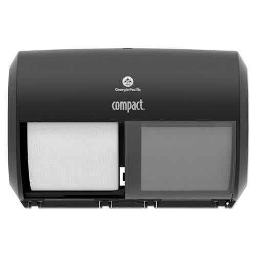 "ESGPC56784A - Compact Coreless Side-By-Side Double Roll Tissue Dispenser, 11.5"" X 8"", Black"