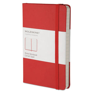 ESHBGMM710R - Hard Cover Notebook, Ruled, 5 1-2 X 3 1-2, Red Cover, 192 Sheets