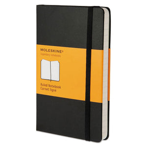 ESHBGMM710 - Hard Cover Notebook, Ruled, 5 1-2 X 3 1-2, Black Cover, 192 Sheets
