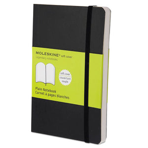 ESHBGMS717 - Classic Softcover Notebook, Plain, 5 1-2 X 3 1-2, Black Cover, 192 Sheets