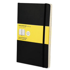 ESHBGMSL15 - Classic Softcover Notebook, Squared, 8 1-4 X 5, Black Cover, 192 Sheets
