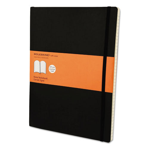 ESHBGMSX14 - Classic Softcover Notebook, Ruled, 10 X 7 1-2, Black Cover, 192 Sheets