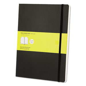ESHBGMSX15 - Classic Softcover Notebook, Squared, 10 X 7 1-2, Black Cover, 192 Sheets