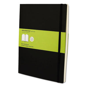 ESHBGMSX17 - Classic Softcover Notebook, Plain, 10 X 7 1-2, Black Cover, 192 Sheets
