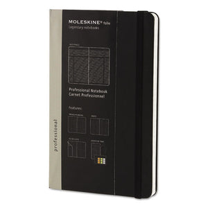 ESHBGPROPFNTB3HBK - Professional Notebook, Ruled, 8 1-4 X 5, Black Cover, 240 Sheets