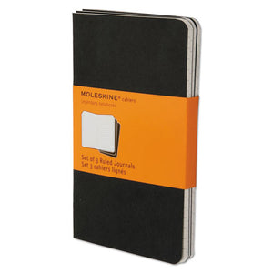 ESHBGQP311 - Cahier Journal, Ruled, 5 1-2 X 3 1-2, Black Cover, 64 Sheets