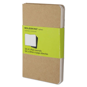 ESHBGQP413 - Cahier Journal, Plain, 5 1-2 X 3 1-2, Kraft Brown Cover, 64 Sheets