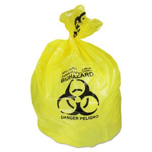 ESHERA6043PY - Healthcare Biohazard Can Liners, 20-30 Gal, 1.3mil, 30 X 43, Yellow, 200-ct