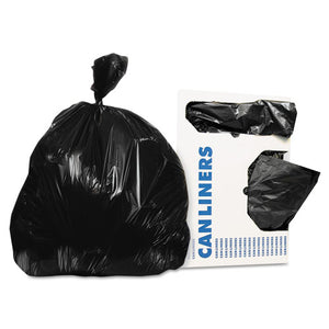 ESHERH6036TK - Low-Density Can Liners, 20-30 Gal, 0.9 Mil, 30 X 36, Black, 200-carton