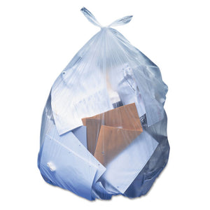 ESHERH7658SC - Low-Density Can Liners, 60 Gal, 1.1 Mil, 38 X 58, Clear, 100-carton