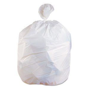 ESHERH8046EW - Low-Density Can Liners, 40-45 Gal, 0.75 Mil, 40 X 46, White, 100-carton