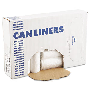 ESHERZ5845HNR01 - High-Density Can Liners, 23 Gal, 14 Mic, 29 X 45, Natural, 250-carton