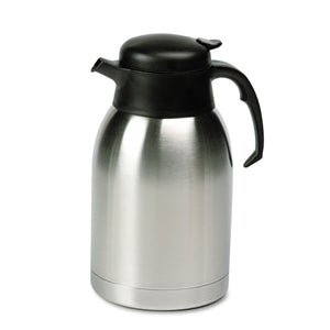 ESHORSVC190 - Stainless Steel Lined Vacuum Carafe, 1.9l, Satin Finish-black Trim