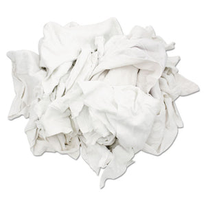 ESHOS33350 - Reclaimed White Sweatshirt Rags, Bleached White, 50 Lb Box