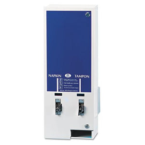 ESHOSED125 - Electronic Vendor Dual Sanitary Napkin-tampon Dispenser, Coin Operated, Metal