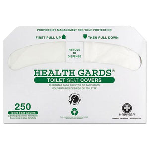 ESHOSGREEN1000 - Health Gards Green Seal Recycled Toilet Seat Covers, White, 250-pk, 4 Pk-ct