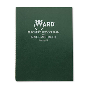 ESHUB18 - Lesson Plan Book, Wirebound, 8 Class Periods-day, 11 X 8-1-2, 100 Pages, Green
