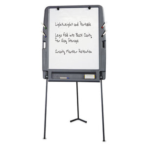 ESICE30227 - Portable Flipchart Easel With Dry Erase Surface, Resin, 35 X 30 X 73, Charcoal