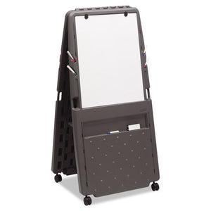 ESICE30237 - Presentation Flipchart Easel With Dry Erase Surface, Resin, 33x28x73, Charcoal