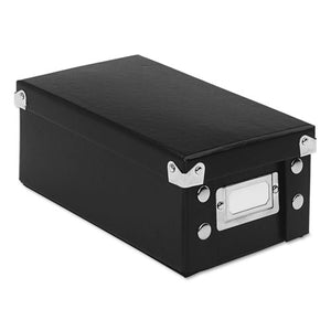 ESIDESNS01573 - Collapsible Index Card File Box, Holds 1,100 3 X 5 Cards, Black