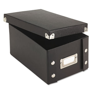 ESIDESNS01577 - Collapsible Index Card File Box, Holds 1,100 4 X 6 Cards, Black
