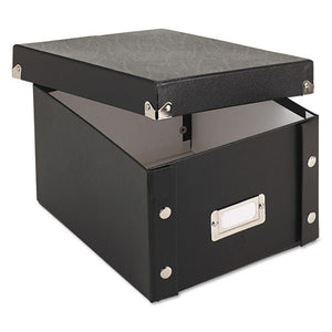 ESIDESNS01647 - Collapsible Index Card File Box, Holds 1,100 5 X 8 Cards, Black