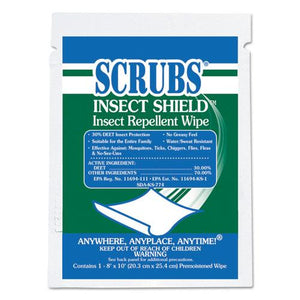 ESITW91401 - Insect Shield Insect Repellent Wipes, 8 X 10, White, 100-carton