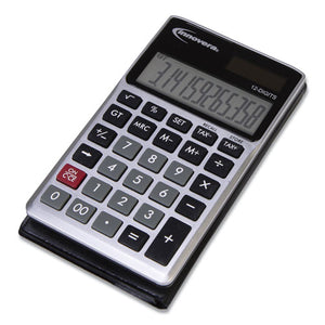 ESIVR15922 - 15922 POCKET CALCULATOR, DUAL POWER, 12-DIGIT LCD DISPLAY