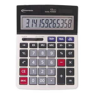 ESIVR15975 - 15975 LARGE DISPLAY CALCULATOR, DUAL POWER, 12-DIGIT LCD DISPLAY