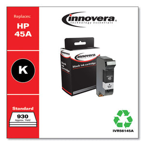 Compatible Black Ink, Replacement For Hp 45a (51645a), 930 Page-yield