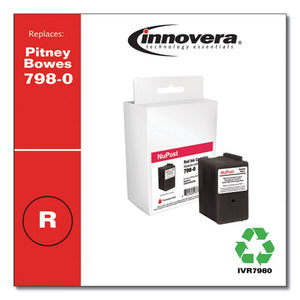 Compatible Red Postage Meter Ink, Replacement For Pitney Bowes 798-0 (sl-798-0), 1,500 Page-yield