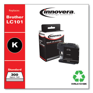 Compatible Black Ink, Replacement For Brother Lc101bk, 300 Page-yield