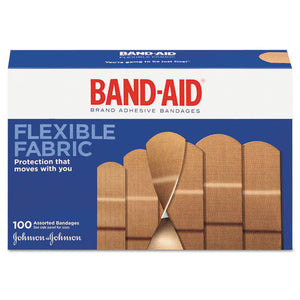 ESJOJ11507800 - Flexible Fabric Adhesive Bandages, Assorted, 100-box