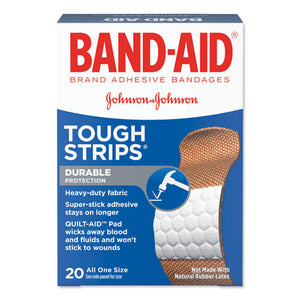 "ESJOJ4408 - Flexible Fabric Adhesive Tough Strip Bandages, 1"" X 3 1-4"", 20-box"