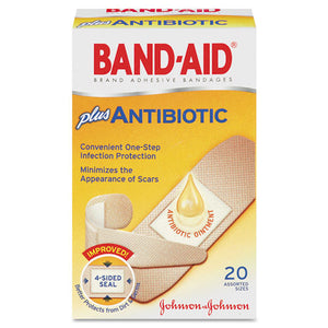 ESJOJ5570 - Antibiotic Adhesive Bandages, Assorted Sizes, 20-box