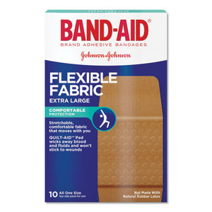 "ESJOJ5685 - Flexible Fabric Extra Large Adhesive Bandages, 1 1-4"" X 4"", 10-box"