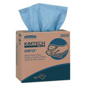 ESKCC33570 - Kimtex Wipers, Pop-Up Box, 8 4-5 X 16 4-5, Blue, 100-box, 5-carton