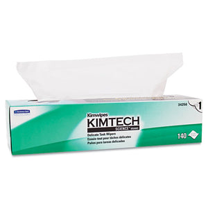 ESKCC34256BX - Kimwipes Delicate Task Wipers, 1-Ply, 16 3-5 X 16 5-8, 140-box