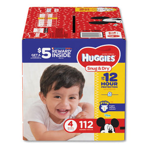 ESKCC43111 - SNUG AND DRY DIAPERS, SIZE 4, 22 LB TO 37 LB, 112-PACK