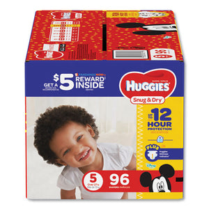 ESKCC43113 - SNUG AND DRY DIAPERS, SIZE 5, 27 LB TO 35 LB, 96-PACK