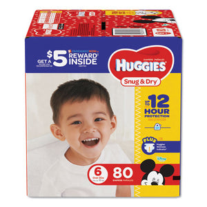 ESKCC43114 - SNUG AND DRY DIAPERS, SIZE 6, 35 LB MIN, 80-PACK