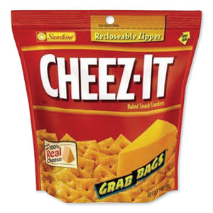 Cheez-it Crackers, Original Cheese, 7 Oz Grab Bag, 6-carton