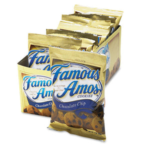 ESKEB98067 - Famous Amos Cookies, Chocolate Chip, 2oz Snack Pack, 8-box