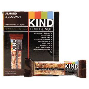 ESKND17828 - Fruit And Nut Bars, Almond And Coconut, 1.4 Oz, 12-box