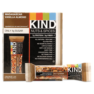 ESKND17850 - Nuts And Spices Bar, Madagascar Vanilla Almond, 1.4 Oz, 12-box