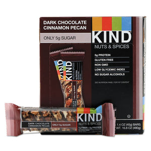 ESKND17852 - Nuts And Spices Bar, Dark Chocolate Cinnamon Pecan, 1.4 Oz, 12-box