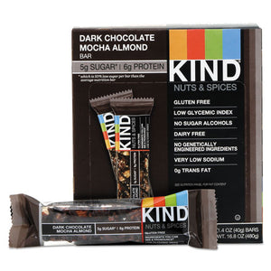 ESKND18554 - Nuts And Spices Bar, Dark Chocolate Mocha Almond, 1.4 Oz Bar, 12-box