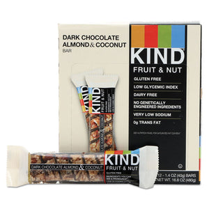 ESKND19987 - Fruit And Nut Bars, Dark Chocolate Almond & Coconut, 1.4 Oz Bar, 12-box
