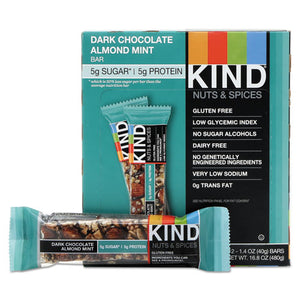 ESKND19988 - Nuts And Spices Bar, Dark Chocolate Almond Mint, 1.4 Oz Bar, 12-box